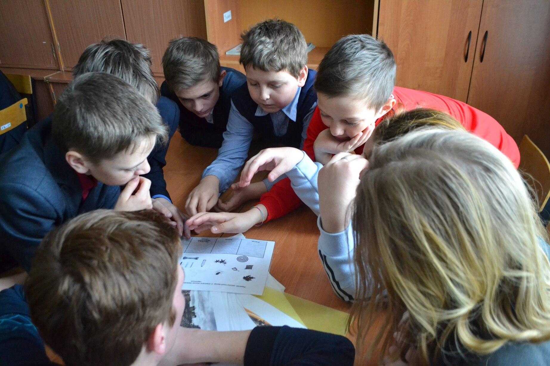 Дружеский визит в школу села Новые Бобовичи