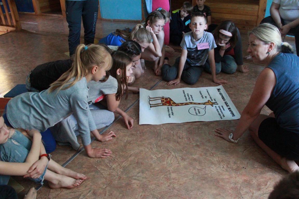 В детском лагере «Новокемп» дети изучали «Язык жирафа»