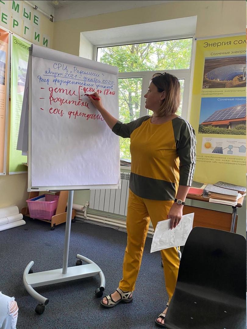 Совещание команды проекта «Социально-реабилитационный центр «Радимичи» для детей и молодых людей с ограниченными возможностями».